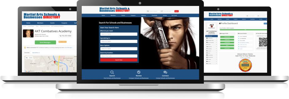 Martial Arts Schools & Businesses Directory Computer Image