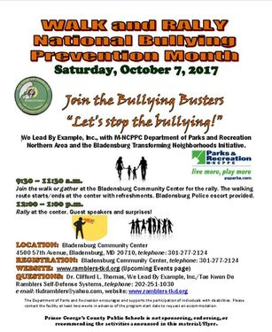 Third Annual Bullying Prevention Walk And Rally